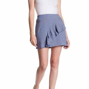 High waisted ruffle gingham Topshop skirt